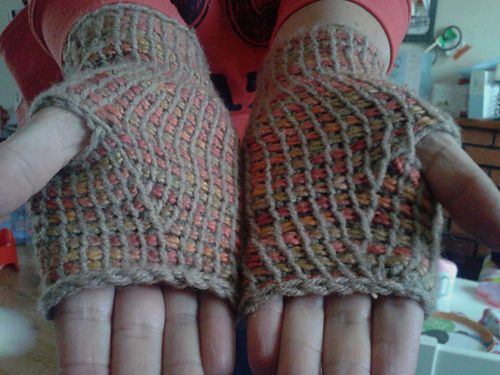 Tunisian Crochet Fingerless Mittens Pattern By Undermeoxter