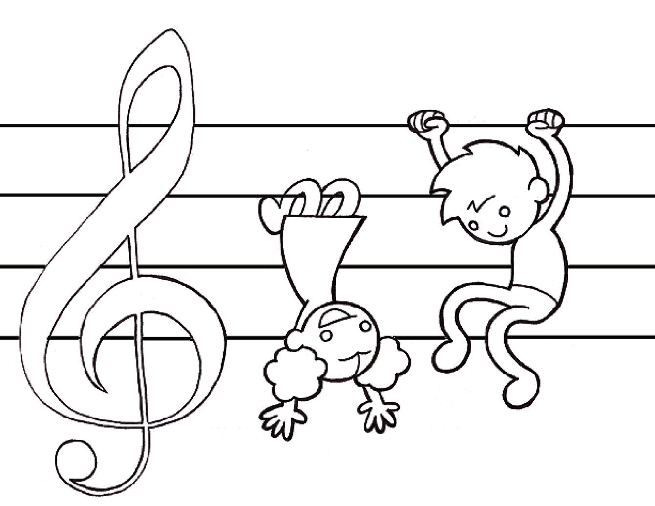 Music Coloring Pages For Kids Reading Music Piano