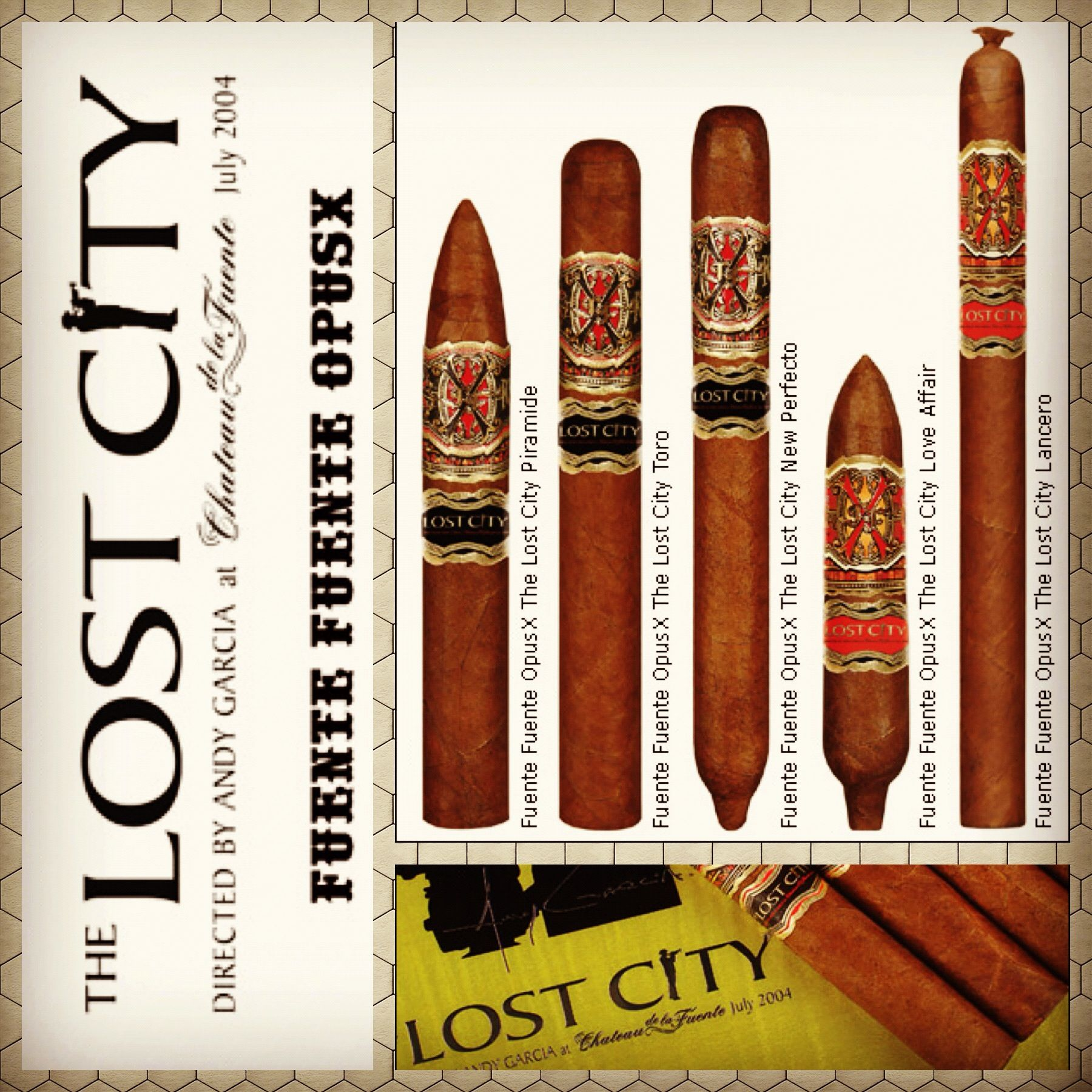 The Opus X Lost City Was Made With Rare Tobaccos Grown On Chateau De La Fuente This Puro Made With 100 Dominican Tobaccos Lost City Andy Garcia Hunting Girls