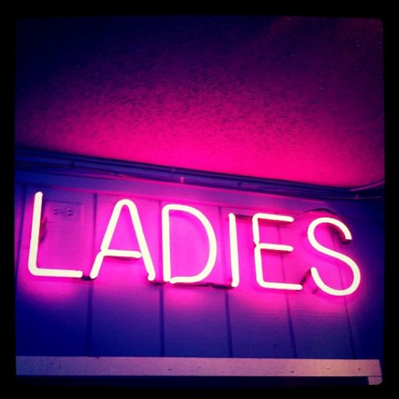 Surf Club, Jersey Shore, ladies sign, restroom sign, neon sign, neon, pink, pink ladies, the shore, bathroom sign