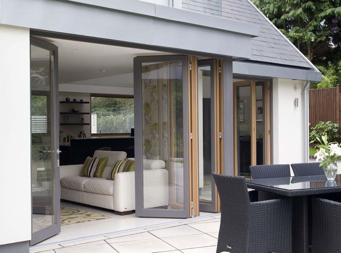 Folding doors mumford wood casa pinterest doors for Bi fold sliding glass doors
