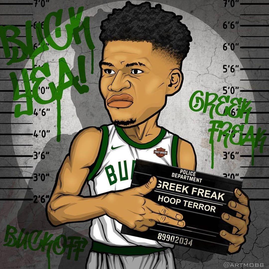 Giannis Antetokounmpo On Instagram The Coolest Thing I Ve Seen On Ig Today Artmobb Nba Basketball Nba Basketball Art Best Nba Players