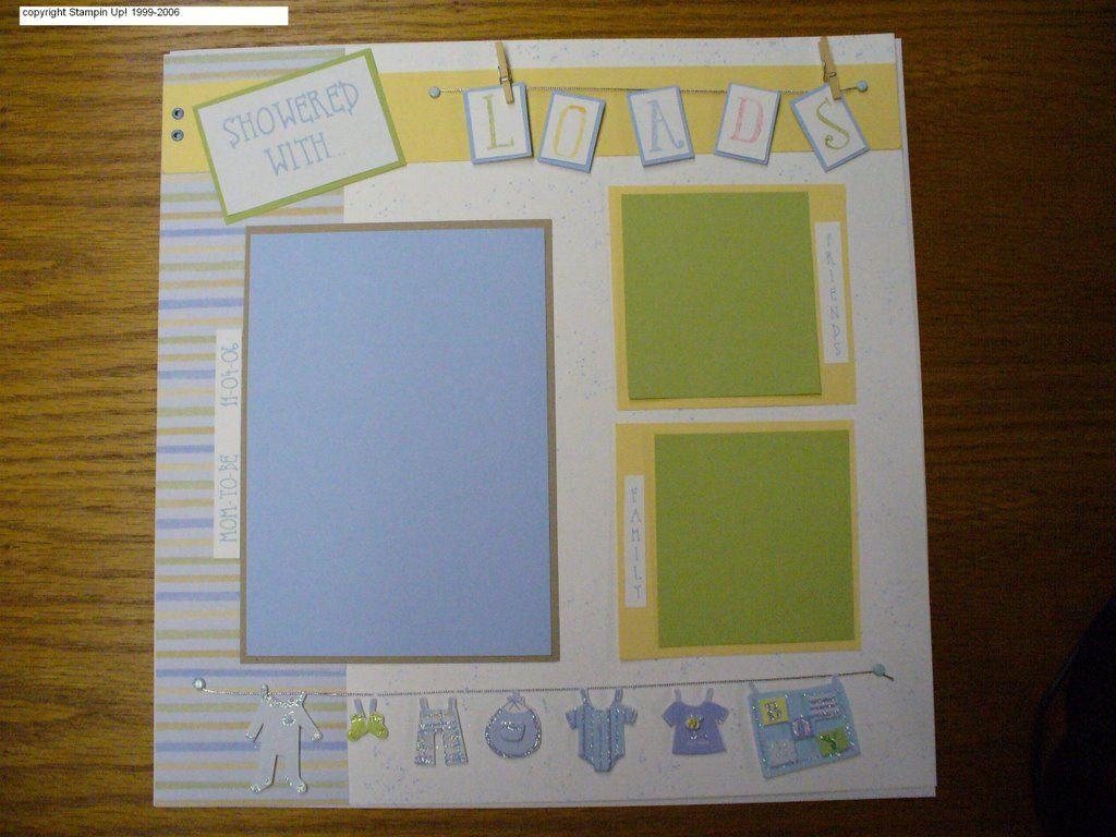 baby shower scrapbook layouts | SavedStamper: Baby shower scrapbook ...