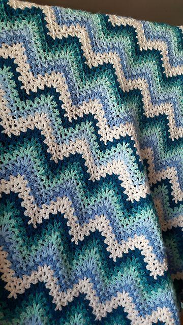 V Stitch Crochet Ripple Afghan Free Pattern V Stitch Crochet