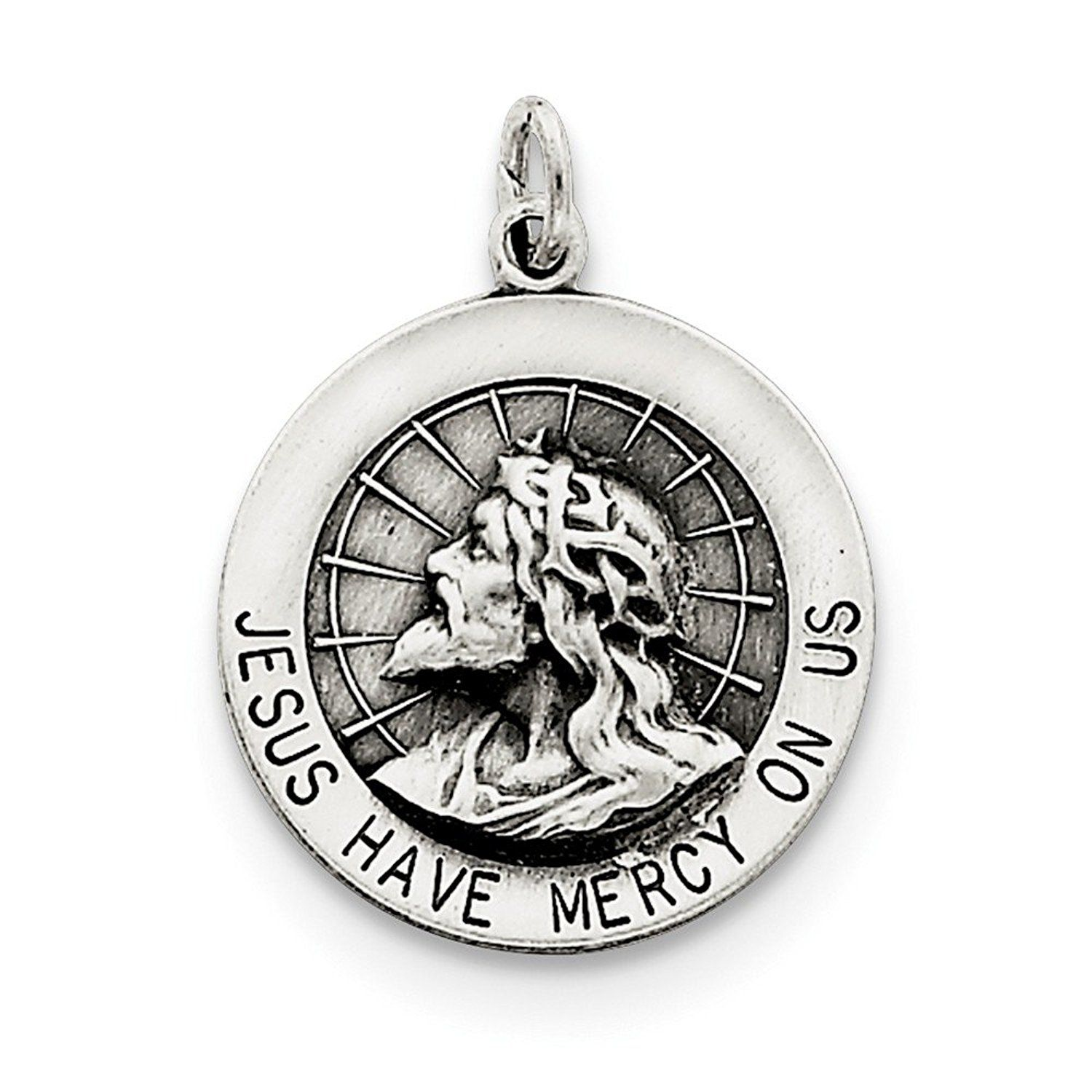 Sterling Silver Jesus Have Mercy Medal