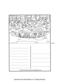 Postcards From Around The World To Color Girl Scout World