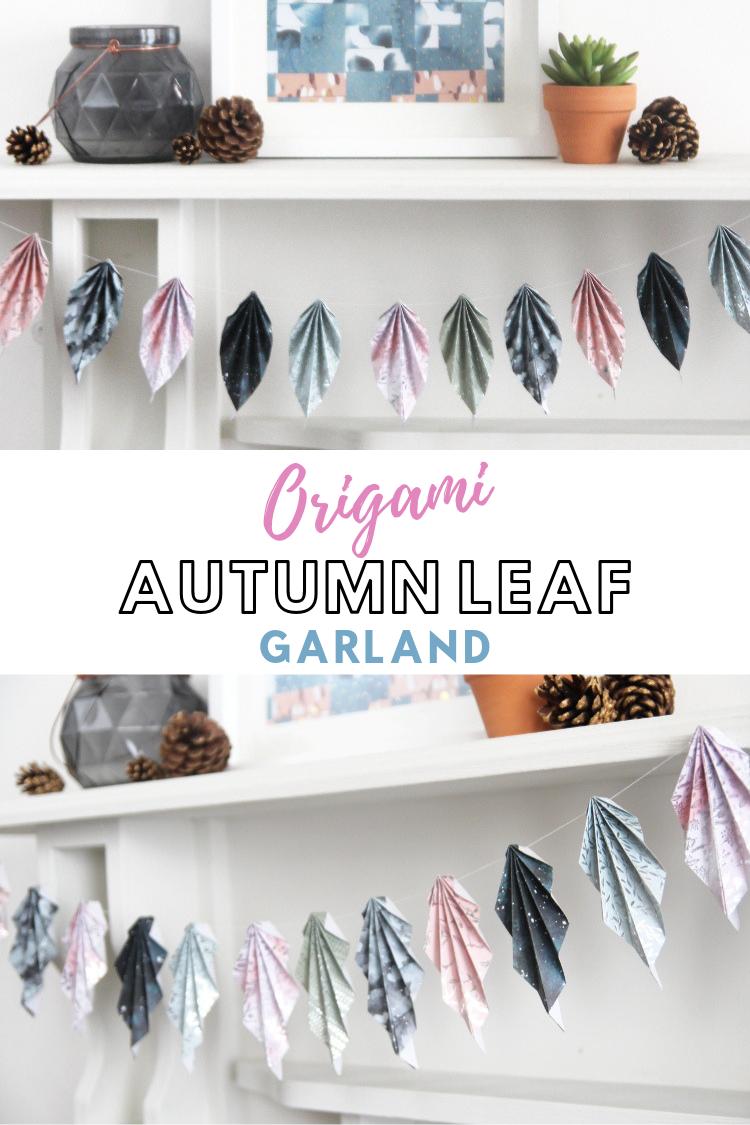 Ideas : HOW TO MAKE AN ORIGAMI AUTUMN LEAF GARLAND #origami #origamileaf #autumn #fall #leaf