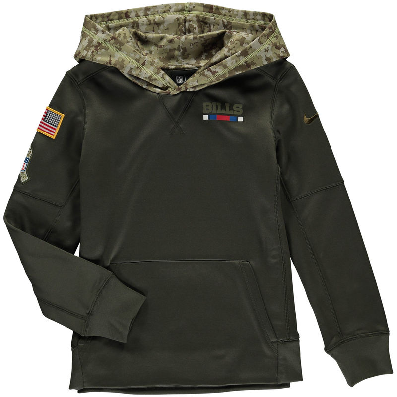 the latest ccfbe 66616 Buffalo Bills Nike Youth Salute to Service Pullover Hoodie ...