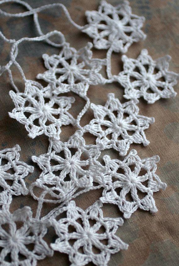 Crochet Garland  Wall Hanging  Small Doily Bunting  by namolio, $31,00