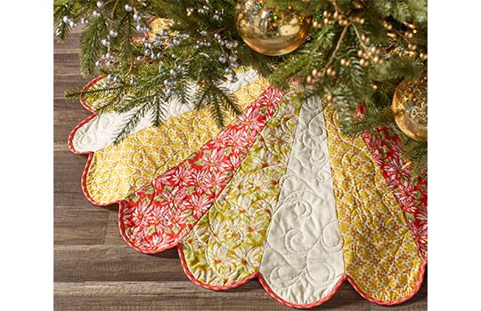 Ginger Snap Dresden Tree Skirt ~ free pattern | Quilts and Quilty ...