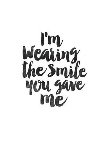 Art Print: Im Wearing the Smile You Gave Me by Brett Wilson : 16x12in