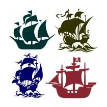 Ancient Pirate Ships Svg Cuttable Design Pirate Ship Drawing Silhouette Art Ship Drawing
