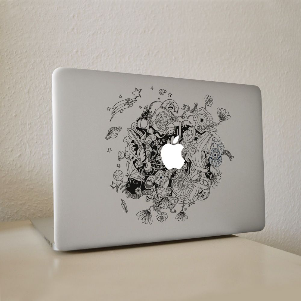 Outer Space Planets Vinyl Decal Sticker For Apple Macbook Pro - Vinyl stickers for laptops