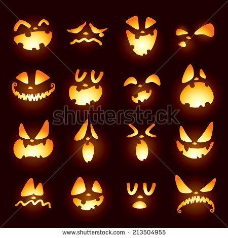 Jack-O-Landebahnen Stock-Vektorgrafik (Lizenzfrei) 213504955 #pumpkincarvingstencils