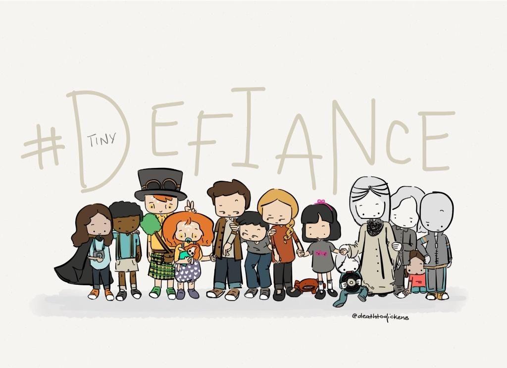 Loooooove!!!!  RT @deathtodickens: Tiny #Defiance babies!