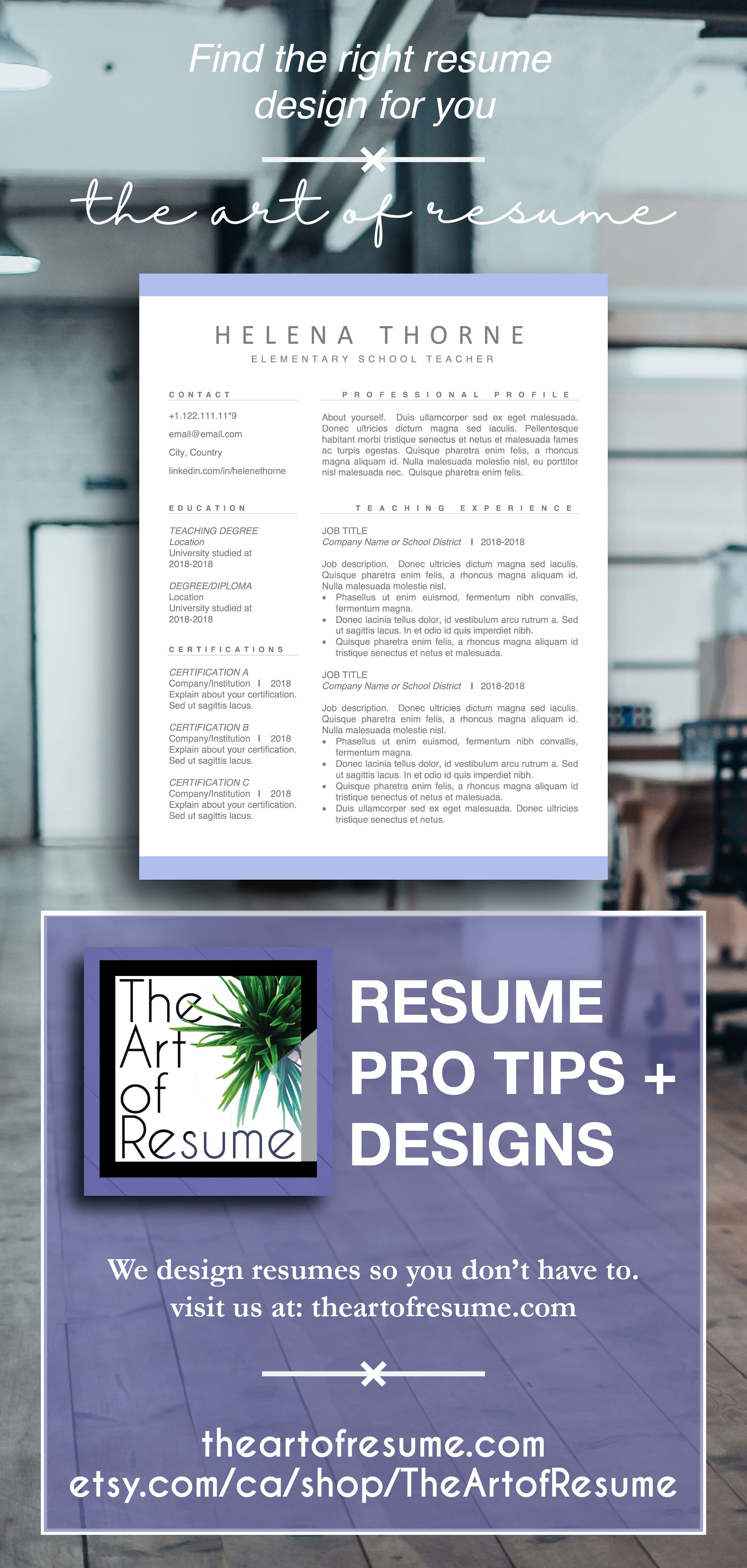 Resume Templates In Word 2018 $10 Etsy Salebuy Now And Save Big Resume Template Word  1 Page .