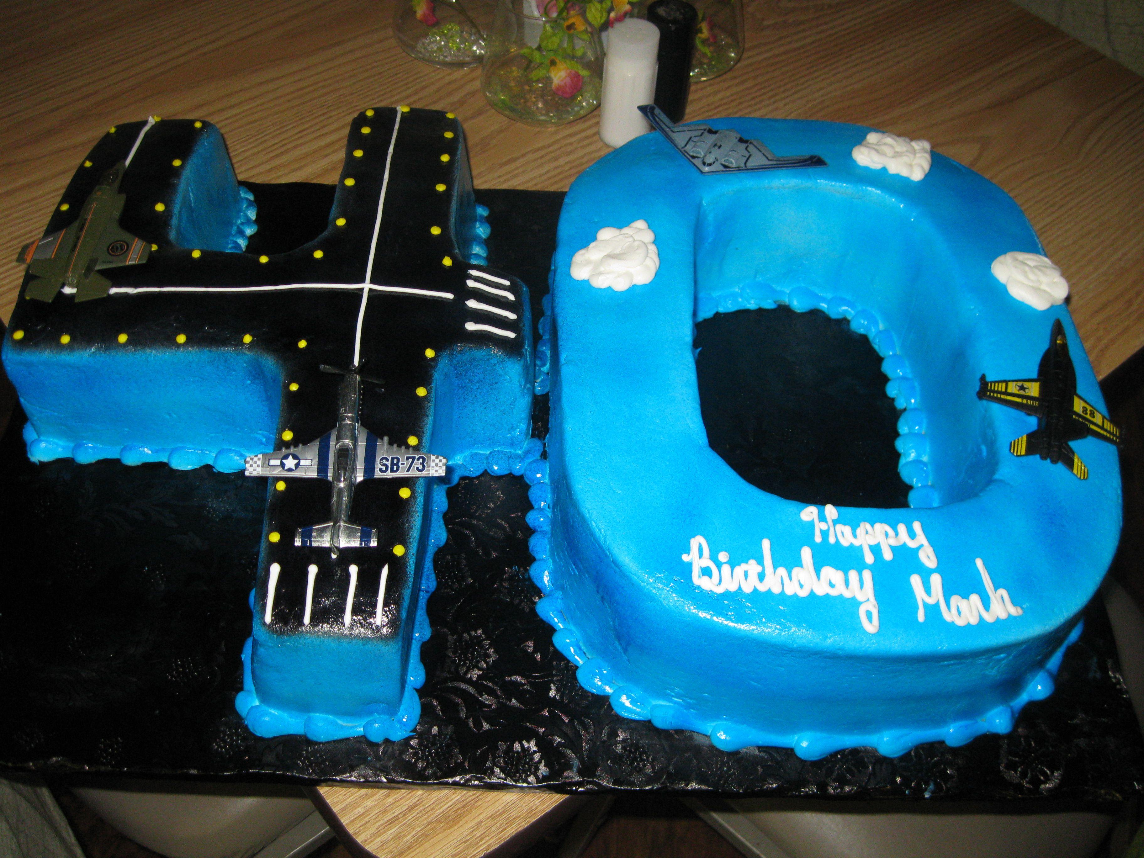 40th Birthday Pilot Cake Airplane party Pinterest 40