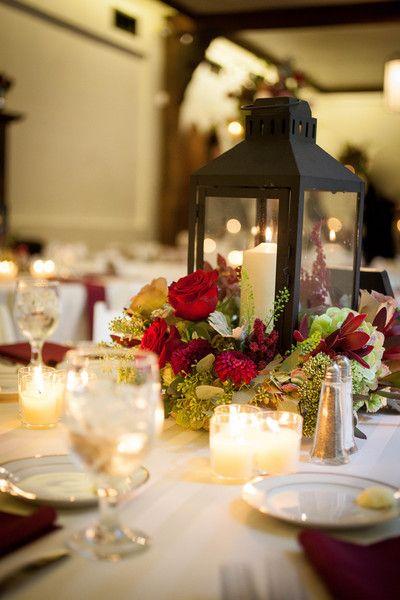 Autumn Maryland Estate Wedding Wedding Centerpieces