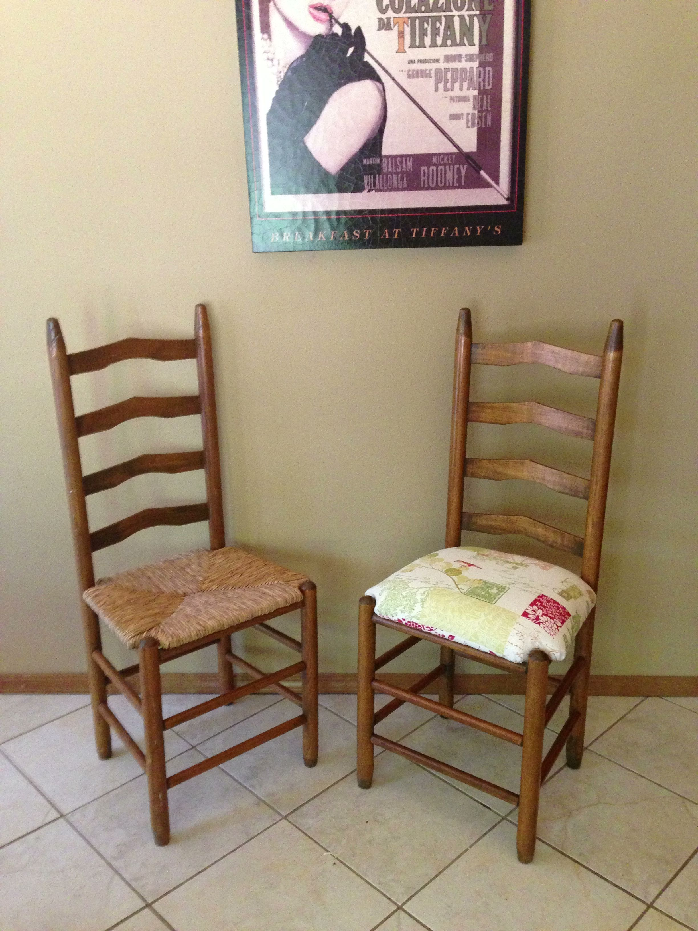 Wicker Ladder Back Chairs Cheap Side Vintage Chair Redo Kept The Rattan Under