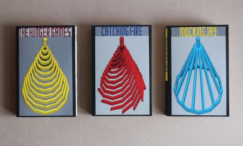THE HUNGER GAMES TRILOGY cover design by Ben Craig