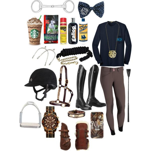 Weekend day at the stable - Polyvore