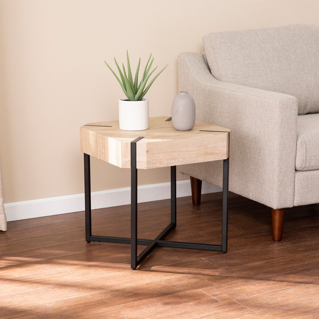 Tansterne Modern Farmhouse End Table Southern Enterprises Tansterne Modern Farmhouse End Table Farmhouse End Tables Modern End Tables Living Room Side Table