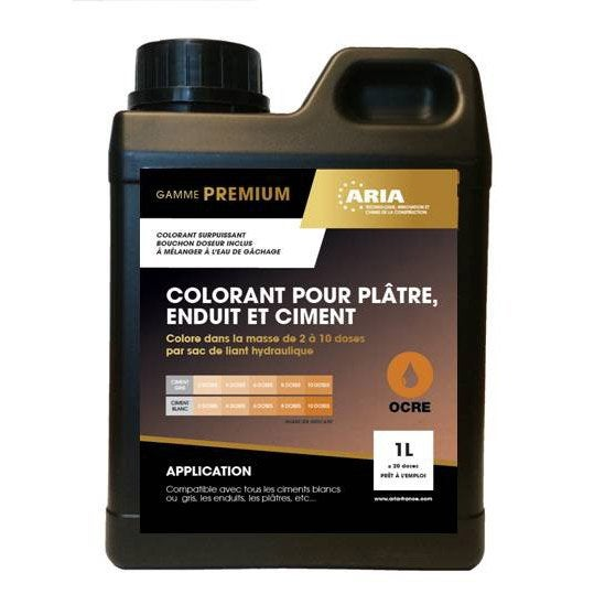 Colorant Pour Beton Mortier Et Platre Aria 1l Mortier Platre Et Beton