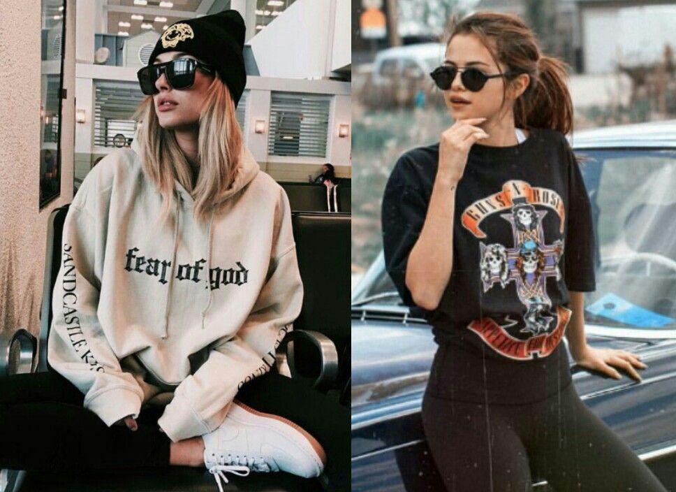 Qualquer semelhança é mera coincidência!♥💥 2 looks estilosos da Hailey Baldwin e da Selena Gomez. #creative #style