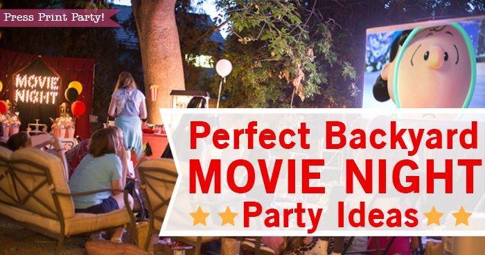 Perfect Backyard Movie Night Birthday Ideas #decorationequipment