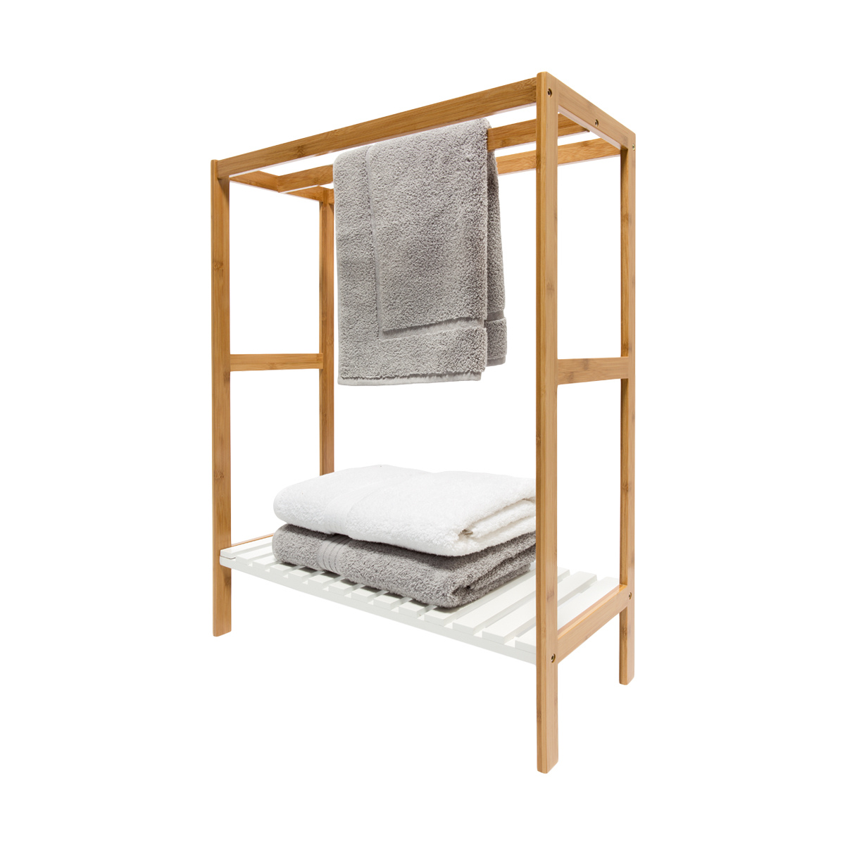 Towel Rail With Bamboo Frame Kmart