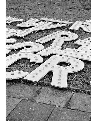 Letter lights. (Photo on fStop by Maria Jauregui Ponte) #photography #typography