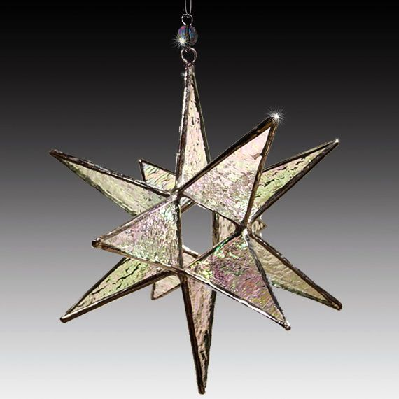 Stained Glass Moravian Star - Home Decor- Choose Your Color - 4.5    These gorgeous, 12 point, 3D stars have been my most popular item for over 15 years.