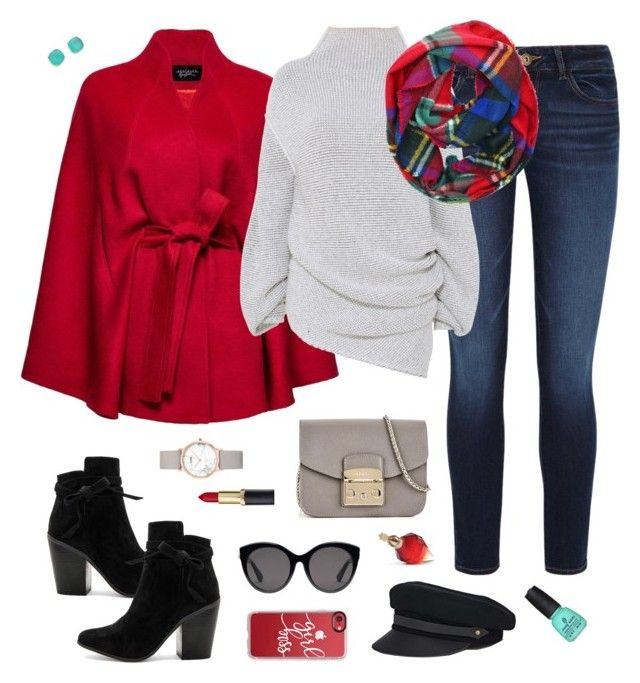 """""""Cool Casual Winter"""" by autumness-1 ❤ liked on Polyvore featuring Furla, DL1961 Premium Denim, Sentaler, Raye, STELLA McCARTNEY, Kate Spade, Gucci, Lola, Casetify and CLUSE"""