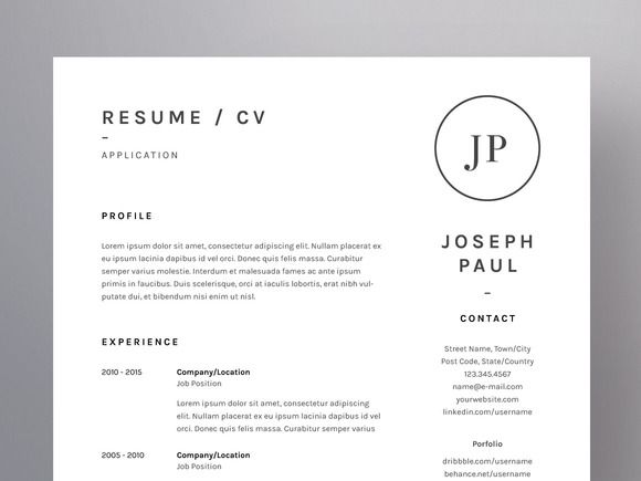 Joseph Paul - Resume/CV Template by Worn Out Media Co on