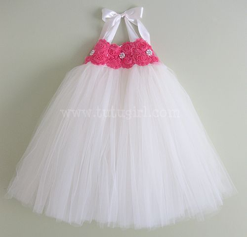 Coral Tutu Dress | Custom Flower Girl Dresses