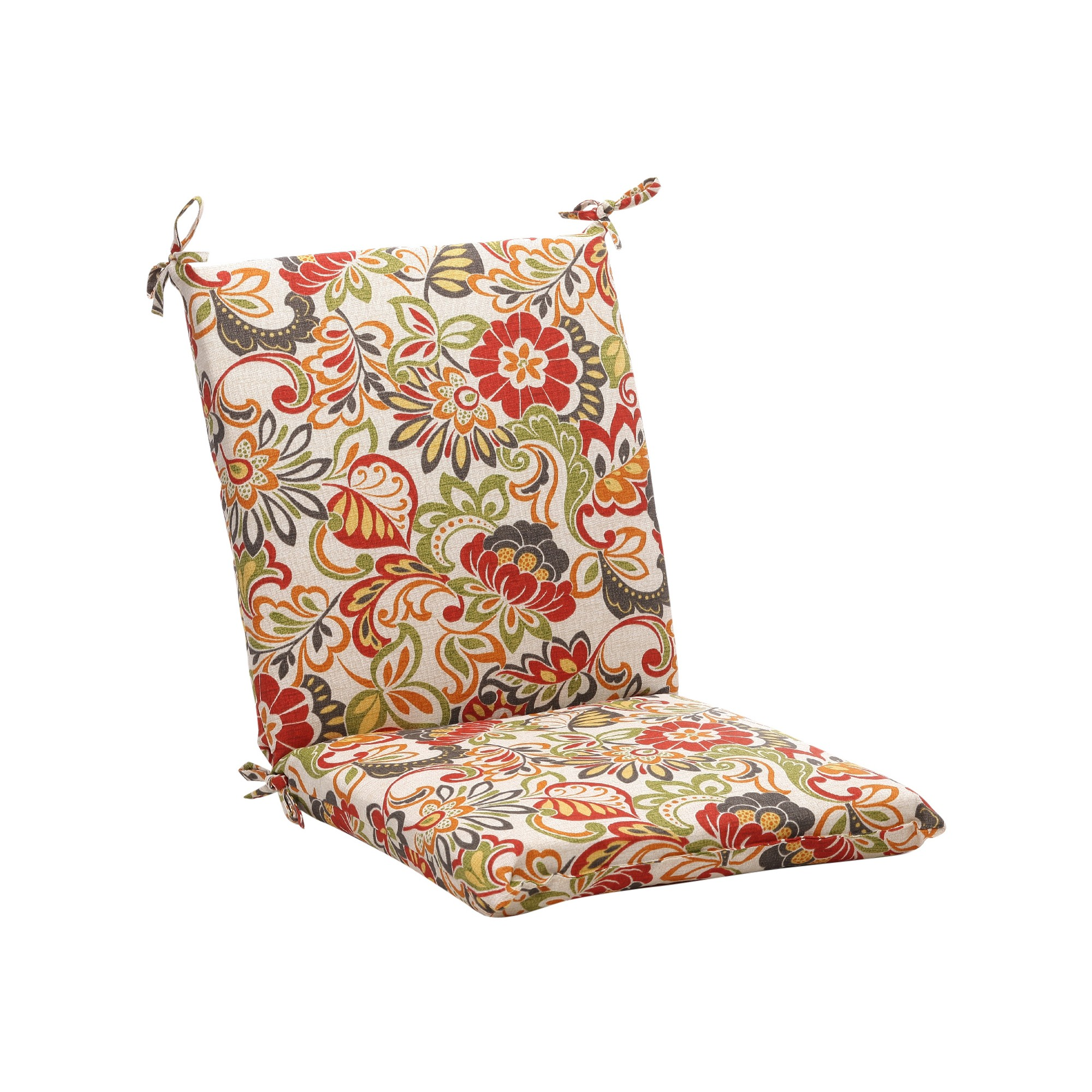 Outdoor Chair Cushion Green Off White Red Floral Outdoor Chair Cushions Floral Chair Outdoor Chairs