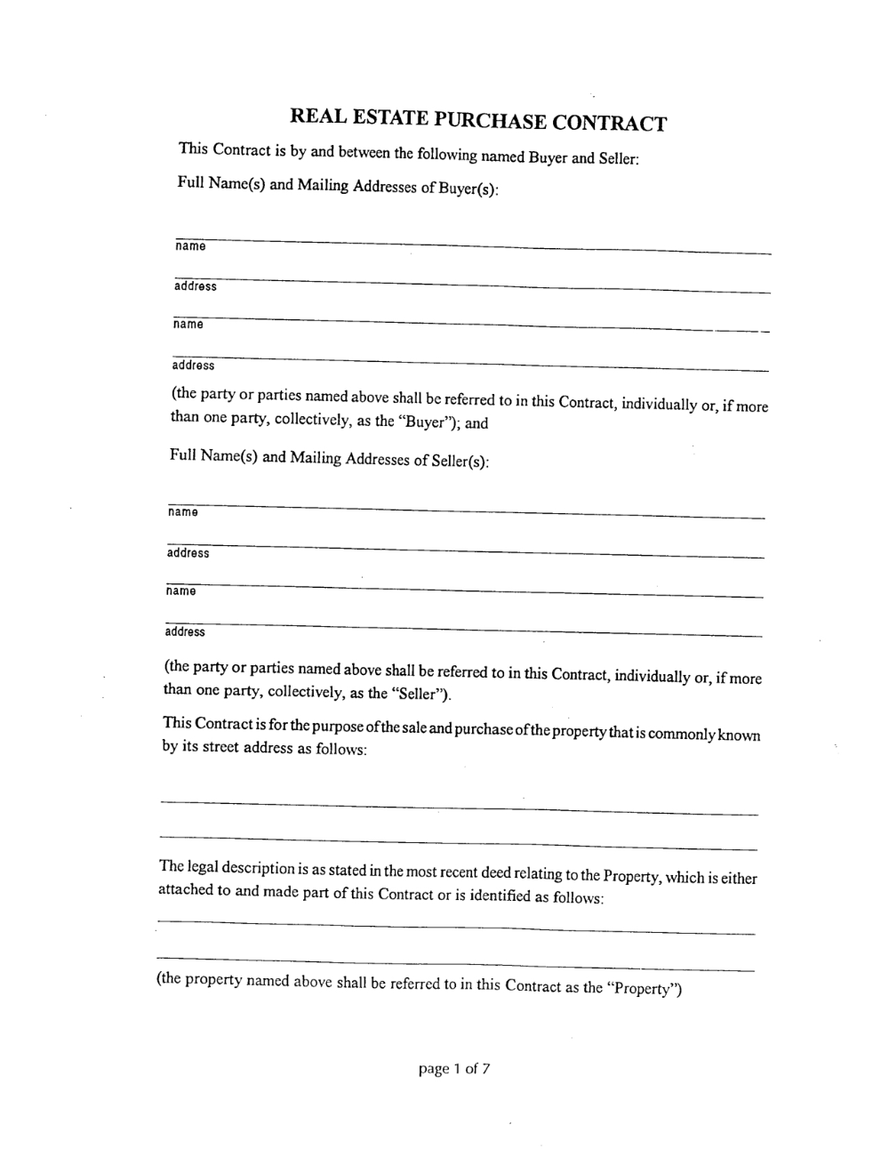 Simple Land Purchase Agreement Form Editable Real Estate Regarding Simple Land Sale Agreement Templat Real Estate Contract Purchase Agreement Contract Template
