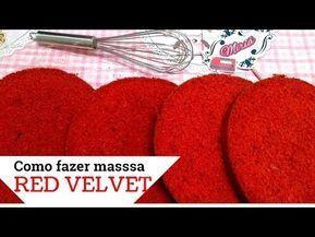 Fluffy RED VELVET Cake Dough (Red Velvet)-Massa Fofinha para bolo RED VELVET (Veludo Vermelho)  Fluffy Dough for RED VELVET Cake (Red Velvet) – YouTube   - #redvelvetcheesecake