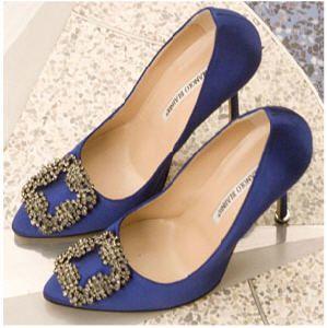 manolo blahnik shoes something blue