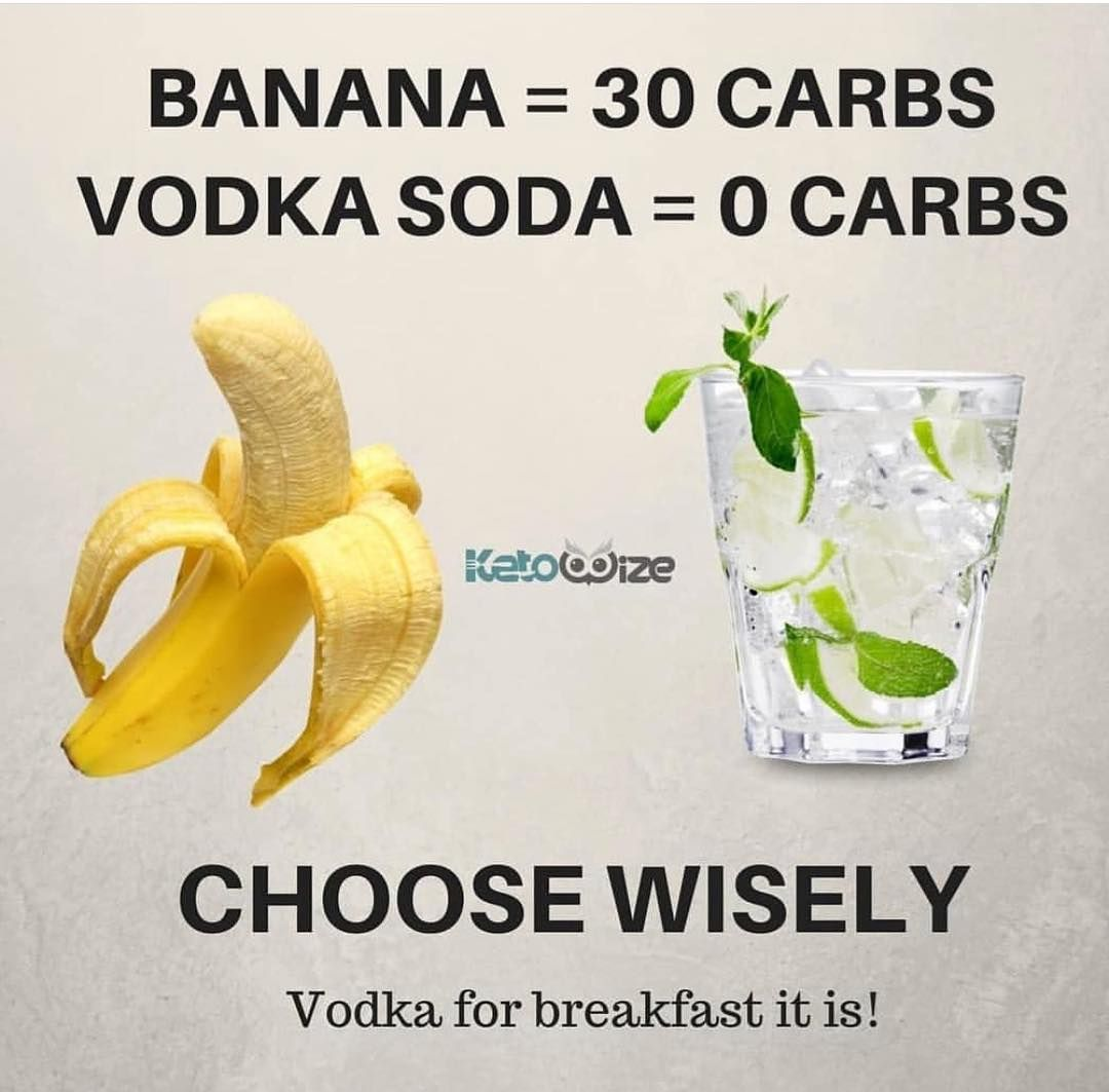 Too Good Not To Steal Ketowise I Miss Bananas So Dang Much But Vodka Is Definitely A Sweet Consolation Prize Keto Quote Diet Plan Menu Vodka Soda