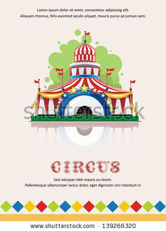 Circus tent frame with space for text. Decoration vector ...