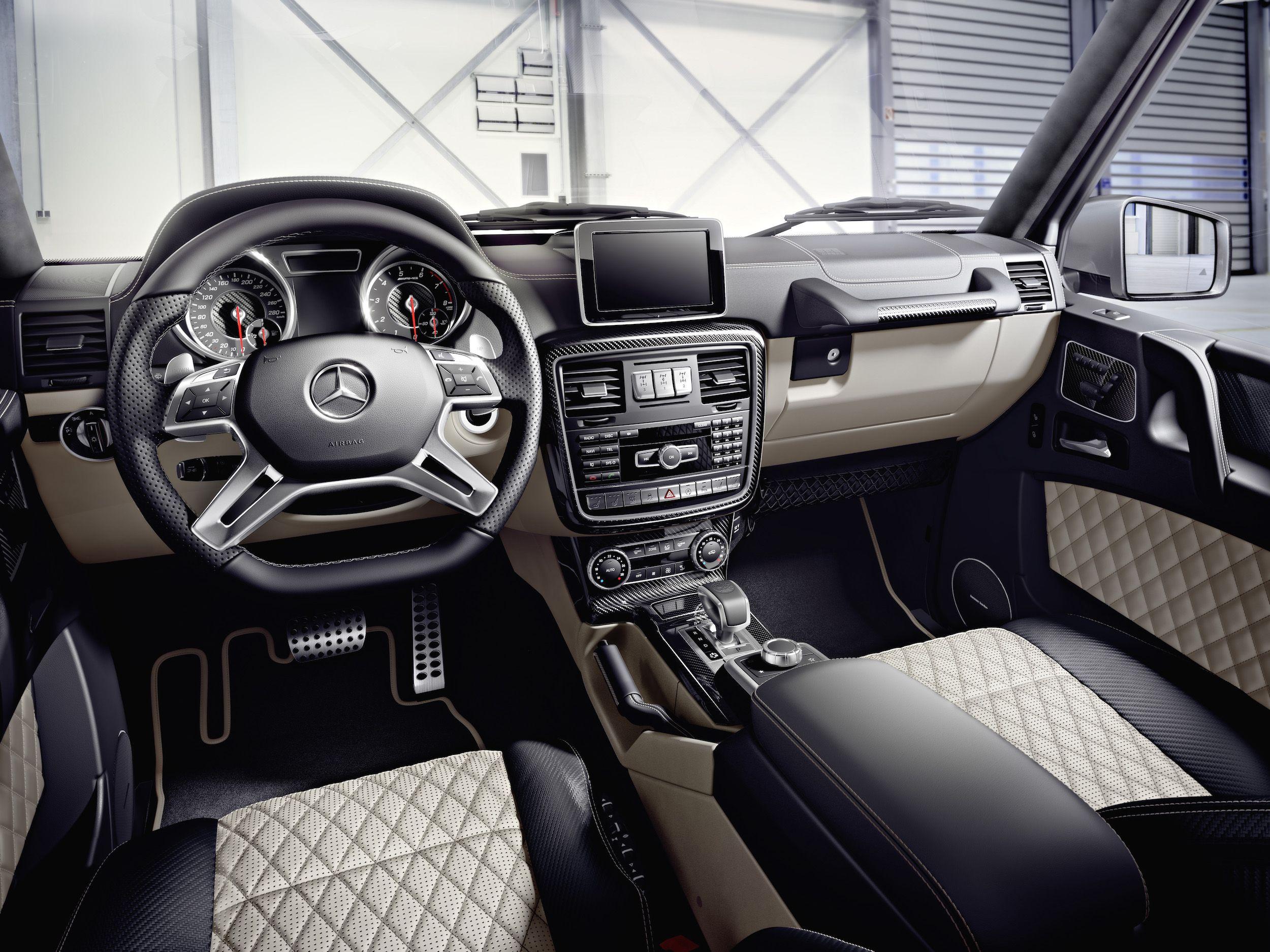 mercedes benz g class br amg g 63 edition interieur designo nappaleder schwarzporzellan zierteile amg carbon interior designo nappa leather - White G Wagon Red Interior