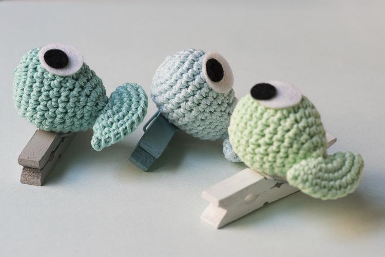 Pez-pinza. Patrón gratis en el blog. -- Fish-pin. Free pattern in my ...