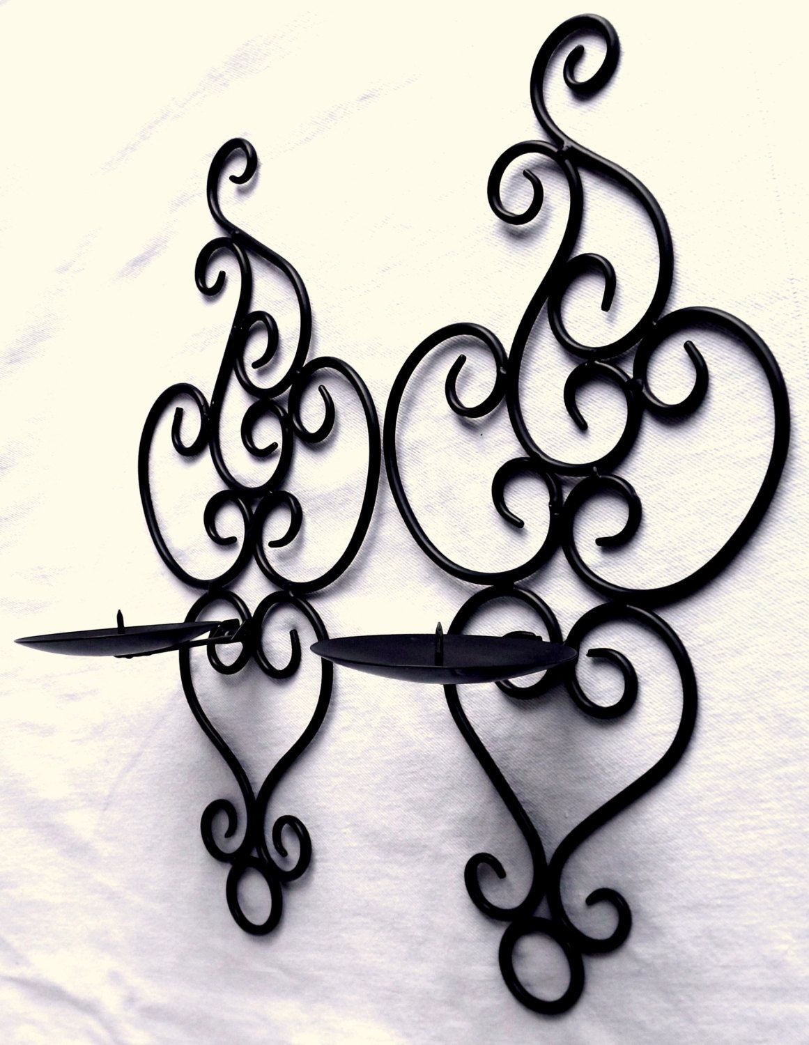 Wrought iron candle wall sconces garden candle wall sconce retro