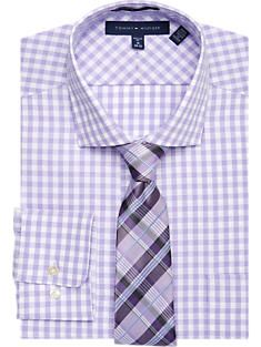 2f318646 Tommy Hilfiger Purple Check Shirt & Tie | What a Man~Career/Casual ...