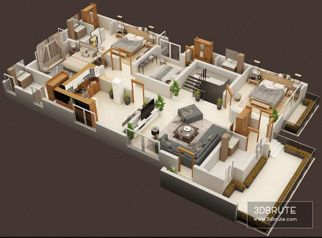 3d Floor Plan Of Luxury House First Floor Plan Luxury House Floor Plans House