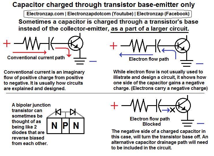 Diagram to help explain my 2 transistor controlled LED flashing ...
