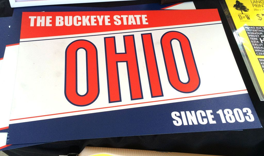Ohio Vintage Metal Sign The Buckeye State With Images The Buckeye State Buckeye Metal Signs