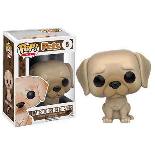 Pop Pets Labrador Retriever Pop Vinyl Figure Entertainment Earth Pet Pop Pop Figurine Vinyl Figures