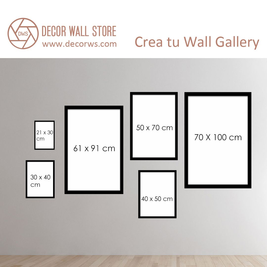 Crea tu Wall Gallery, haz combinaciones con cuadros DECORWS de ...
